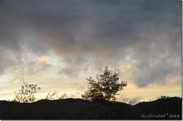 Sunset over Weaver Mts Yarnell AZ