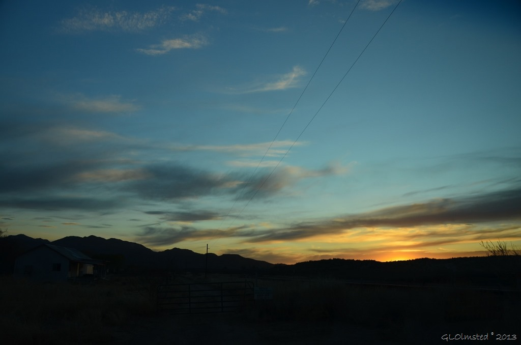 Sunset over Weaver Mts. Iron Springs Rd AZ