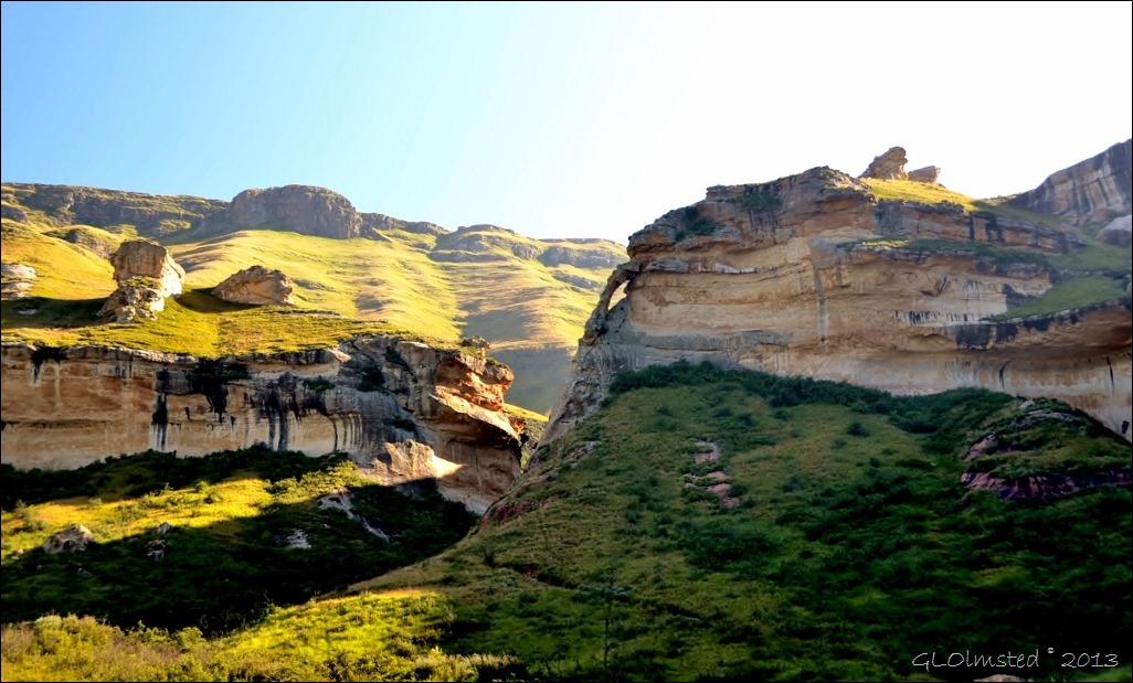 Arch from Echo Ravine trail Golden Gate Highlands National Park R712 Free State South Africa