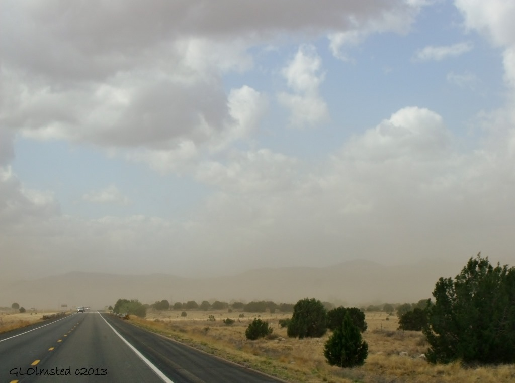 Wind blown dust Hwy 89 S AZ