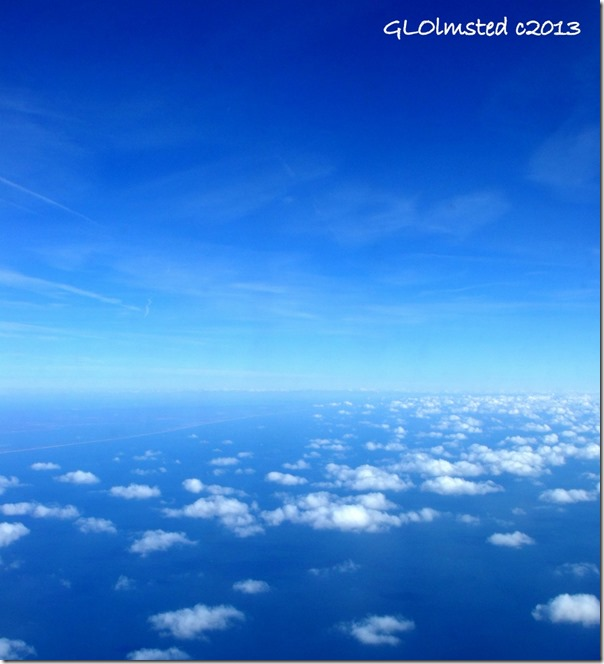 Sky Watch over Atlantic Ocean from plane