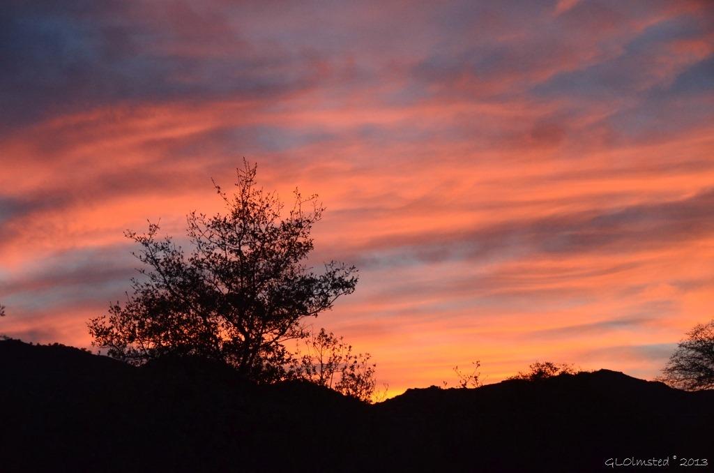 Sunset sky Yarnell AZ