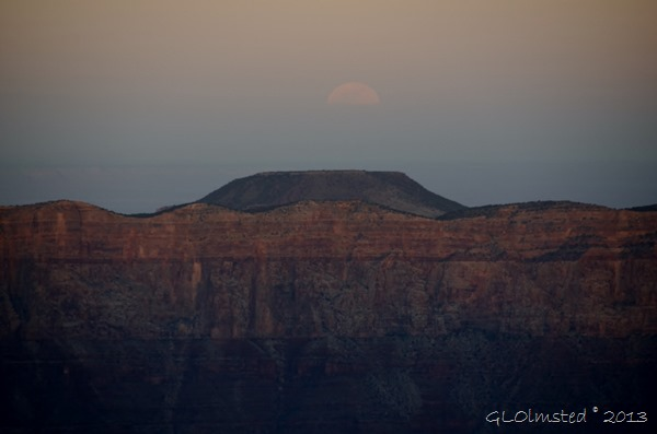 Full moon rise over Cedar Mt from Cape Royal NR GRCA NP AZ