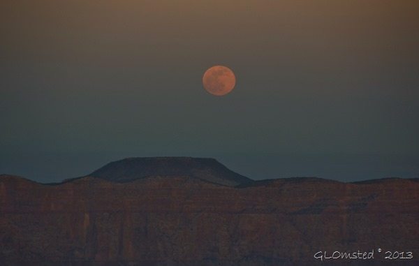 Full moon over Cedar Mt from Cape Royal NR GRCA NP AZ