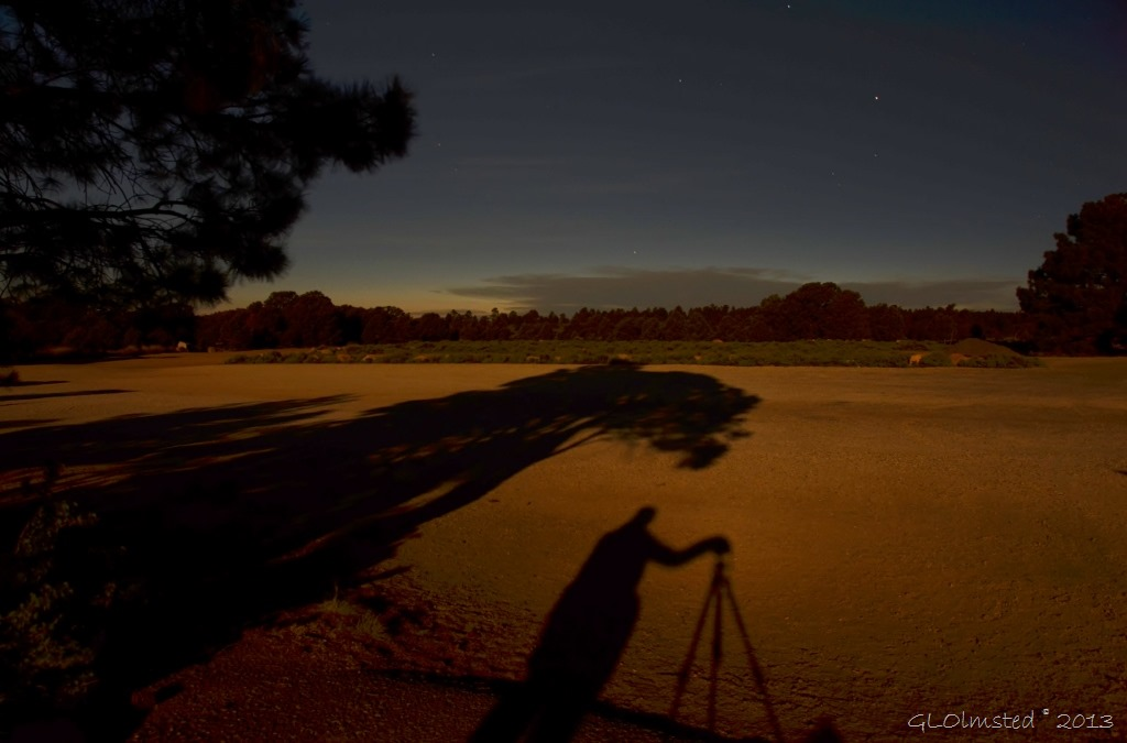 Moon shadows at Cape Royal NR GRCA NP AZ