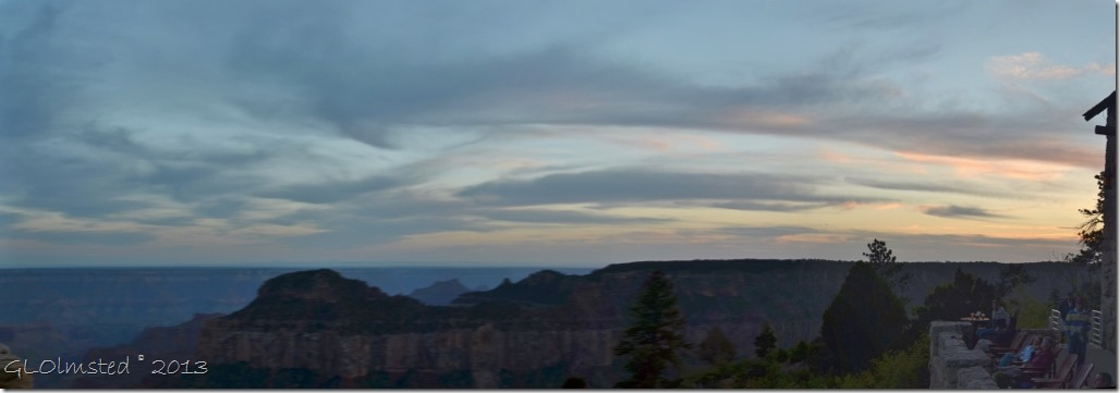 Sunset over Grand Canyon from North Rim