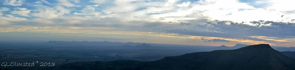 Sunset over Valley of Desolation Camdeboo National Park Eastern Cape Graaff-Reinet South Africa