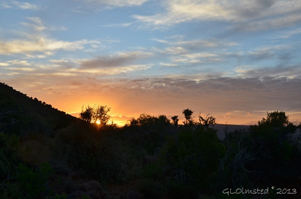 Sunset Camdeboo National Park Eastern Cape Graaff-Reinet South Africa