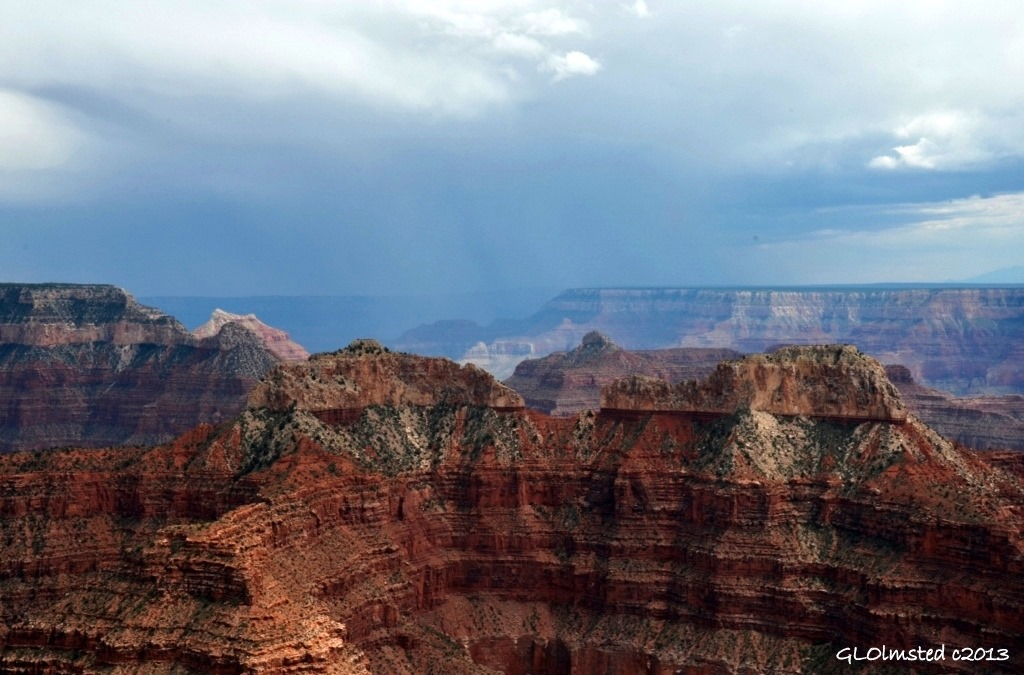 Stormy SE view from Point Sublime North Rim Grand Canyon National Park Arizona