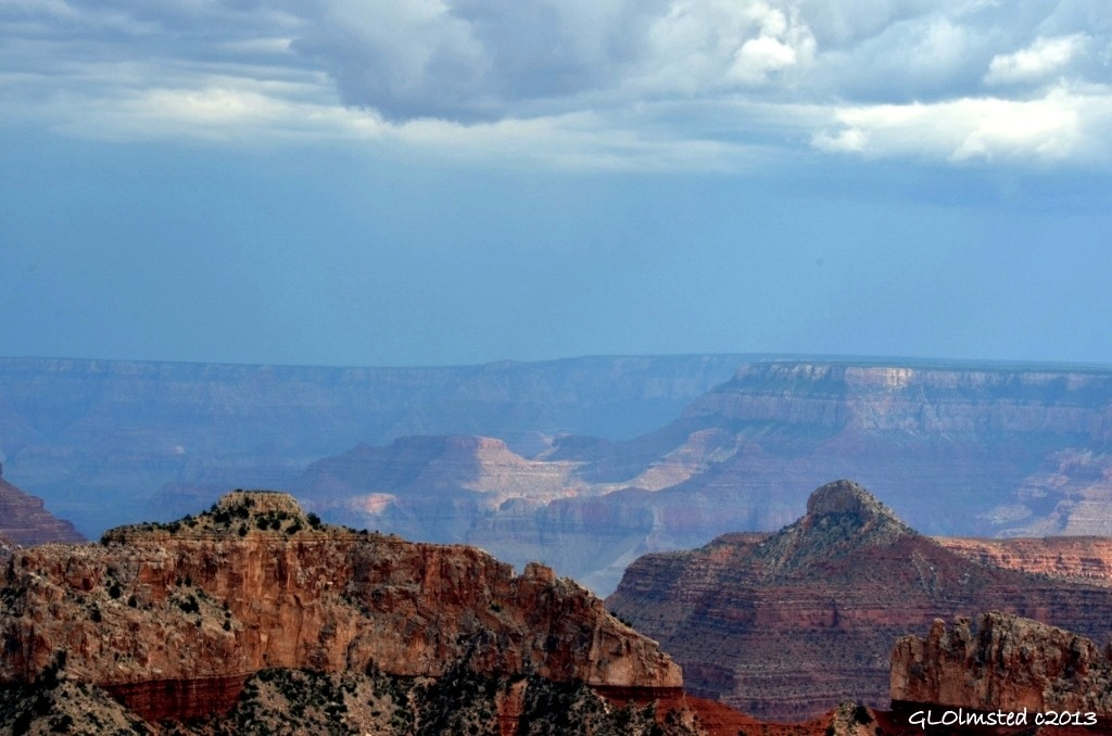 Stormy view SE from Point Sublime North Rim Grand Canyon National Park Arizona