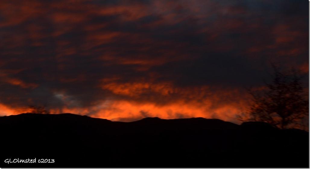 Sunset over Weaver Mts Yarnell Arizona