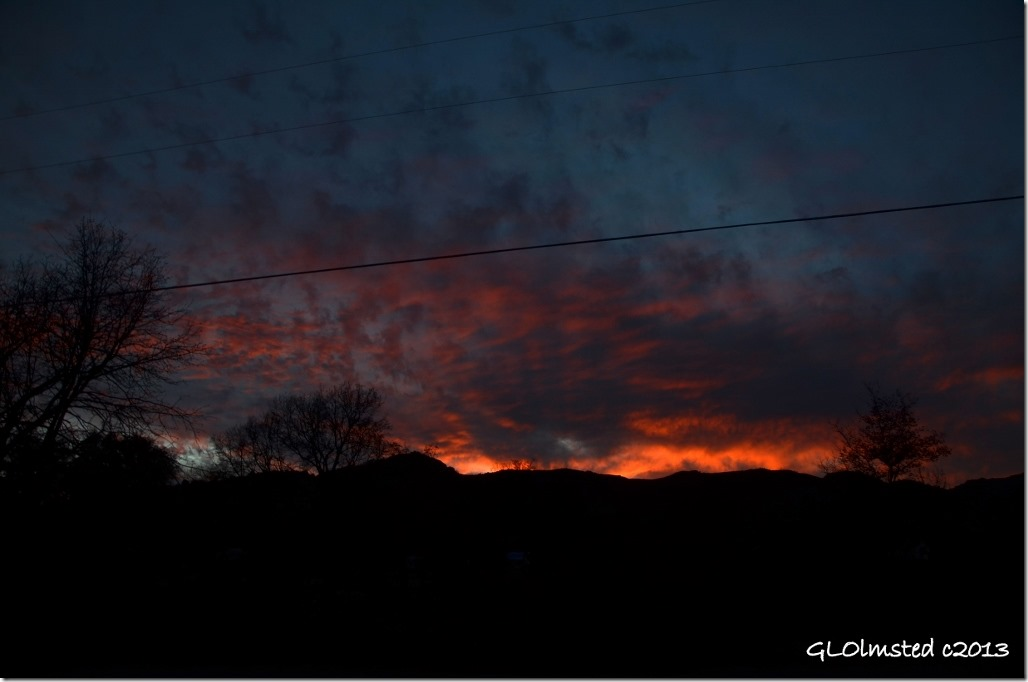 Sunset over Weaver Mts Yarnell Arizona