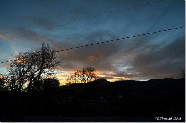 Sunset Yarnell Arizona