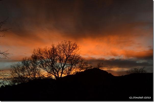 Sunset Yarnell Arizona