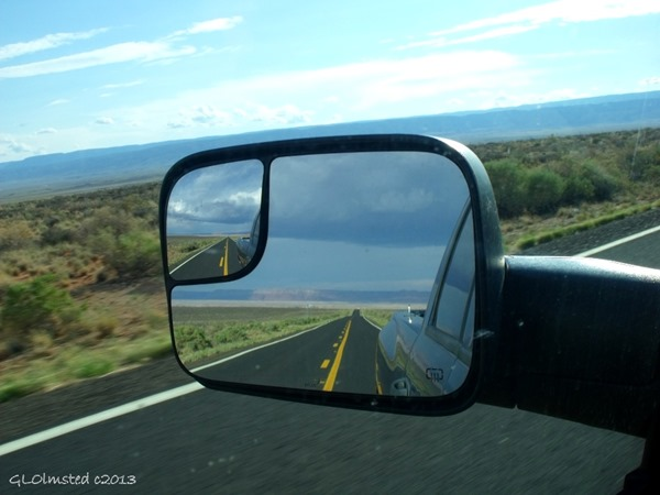 Stormy side mirror view SR89A Arizona