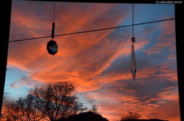 Sunset with crystals Yarnell Arizona