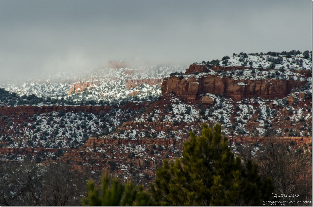 Snow on Vermilion Cliffs Kanab UT