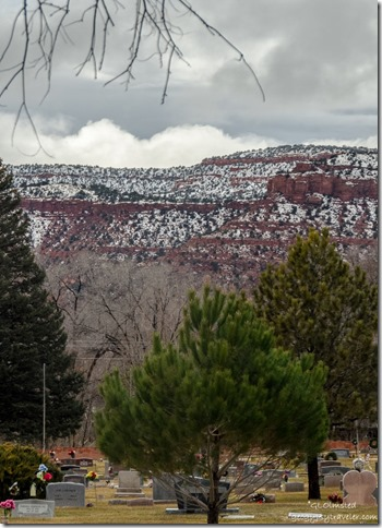 Snow on Vermilion Cliffs Kanab Utah